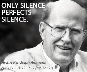 quotes - Only silence perfects silence.