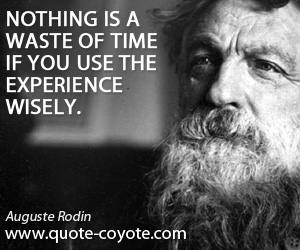 quotes - Nothing is a waste of time if you use the experience wisely.
