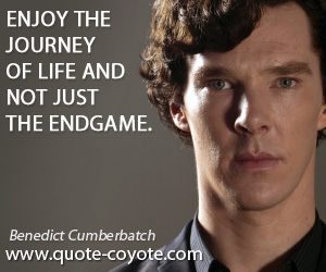 quotes - Enjoy the journey of life and not just the endgame.