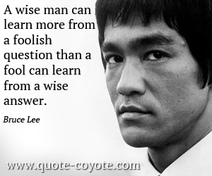Wise quotes - A wise man can learn more from a foolish question than a fool can learn from a wise answer.