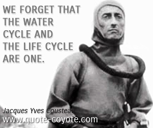 quotes - We forget that the water cycle and the life cycle are one.