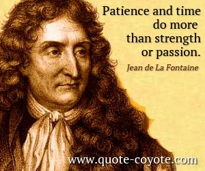 quotes - Patience and time do more than strength or passion.