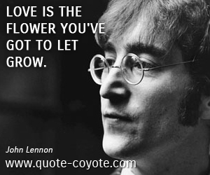 quotes - Love is the flower you've got to let grow.
