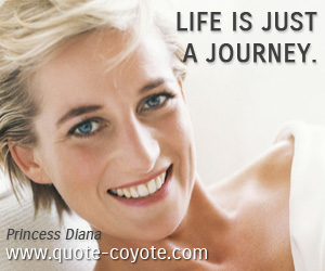 quotes - Life is just a journey.