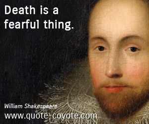 william shakespeare death is a fearful thing
