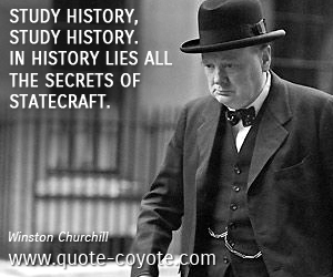 Winston Churchill Quotes About History