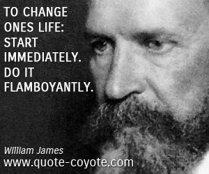 quotes - To change ones life: Start immediately. Do it flamboyantly.