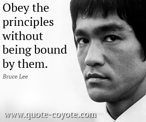 quotes - Obey the principles without being bound by them.