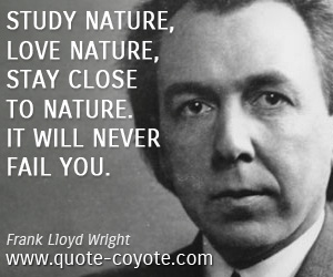 Life quotes - Study nature, love nature, stay close to nature. It will never fail you.