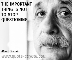 quotes - The important thing is not to stop questioning.