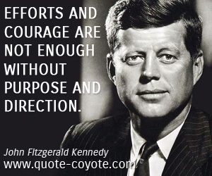 quotes - Efforts and courage are not enough without purpose and direction.