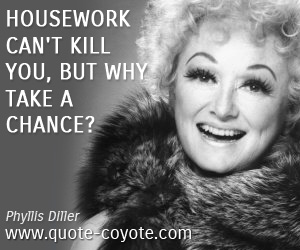 Fun quotes - Housework can't kill you, but why take a chance?