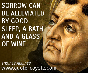 quotes - Sorrow can be alleviated by good sleep, a bath and a glass of wine.
