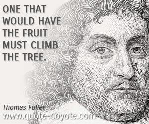 Motivational quotes - One that would have the fruit must climb the tree.